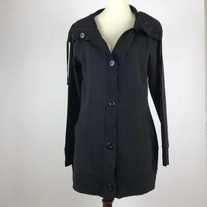 Christine Alexander | Black Button Down Jacket